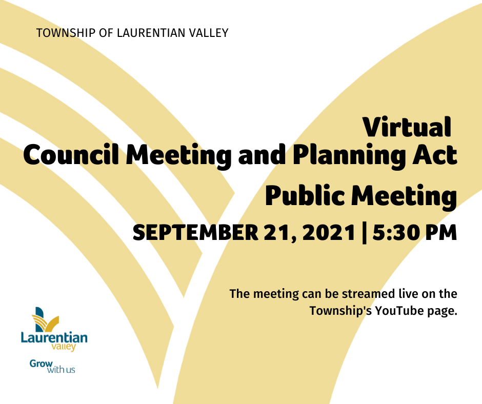 Graphic with information about the Council Meeting on September 21st, 2021.