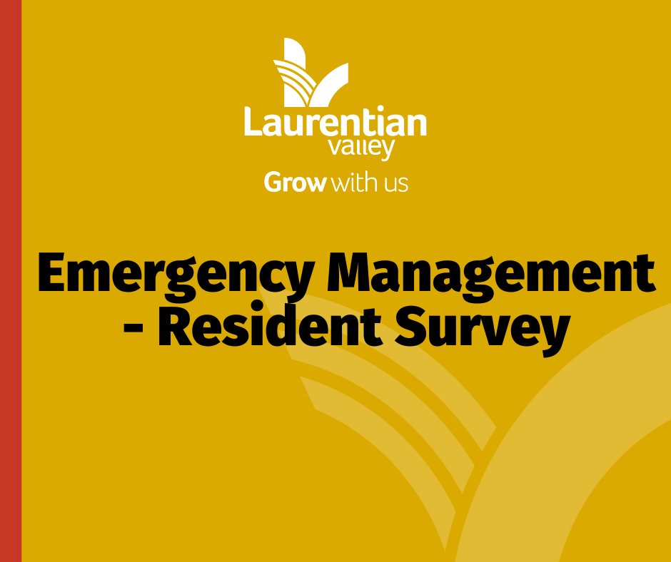 Graphic announcing resident survey.